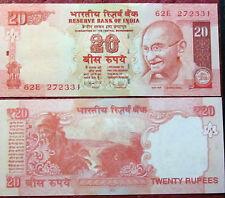 """BILLETE """"  INDIA    """"  20  RUPIAS    AÑO  2010 Mahatma Gandhi  UNC    PLANCHA"""