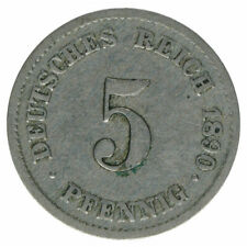 Deutsches Reich 5 Pfennig 1890 G A50258