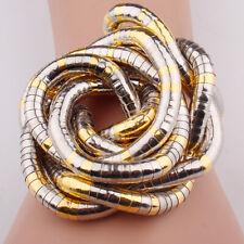 Schlangen Kette biegsam flexibel gold silber farben BICOLOR snake necklace NEU