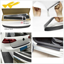 1X Car Rear Bumper Tail Lip Cover+4X Door Pedal Sill Scuff Cover Decal Stickers