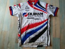 *MAILLOT  CYCLISTE NORET AS VERN OLDHAM BATTERIES SALSILLI CYCLES TAILLE M/3 TBE