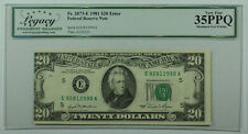 1981 $20 *ERROR* Misaligned Federal Reserve Note FRN Fr. 2073-E Legacy VF-35 PPQ