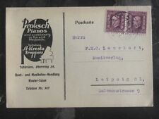 1930 Opava Czechoslovakia Commercial Postcard Cover Piano Vendor