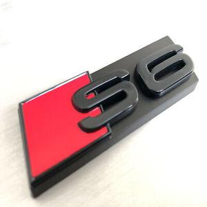 1pc OEM Emblem Style Front Grille Black S6 Badge logo for Honeycomb Mesh Audi S6