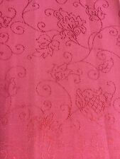 Curtain Sample Rem Vintage Fabric Blind Cushion Craft 60x92cm Red Stitched