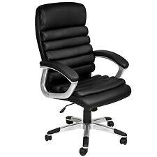 Chaise de bureau siège hauteur réglable simili cuir fauteuil direction noir