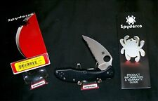 "Spyderco C11FSWCBK Knife ""Delica Wharncliffe SpyderEdge"" & Packaging,W/Booklet"