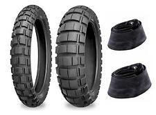 Shinko 90/90-21 & 120/90-18 804/805 Tires & Tubes Set For 00-16 Suzuki DRZ400S