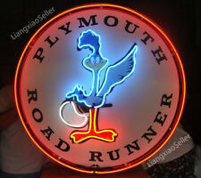 New Plymouth Road Runner Logo Beer Bar Real Neon Light Sign Man Cave