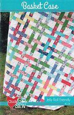 "Basket Case Quilt Pattern, Jelly Roll 2.5"" Strip Friendly, 61"" by 71"" Fin. Size"