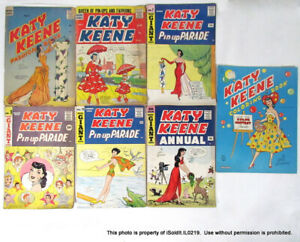 LOT 7 VINTAGE KATY KEENE COMIC BOOKS Archie Giant Series 1957-1961 Radio Comics