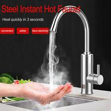 Electric Water Heater Hot Faucet Stainless Steel Instantaneous Tap AU Plug