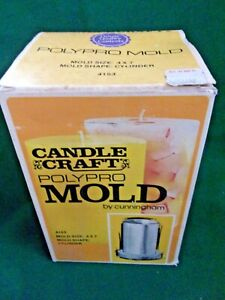 vintage PolyPro Candle Craft Mold 4 x 7 cylinder by Cunningham #4153 box