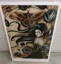 Gothic Rose Jessica Galbreth Hand Signed Print 13x19 Black Rose New