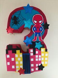 SPIDERMAN PINATA, SUPER HERO BIRTHDAY PARTY, SPIDERMAN PARTY SPIDERMAN NUMBER 3