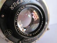 Voigtlander Heliar 13.5cm 135mm f4.5 lens Compur Shutter covers 9x12cm.Brilliant
