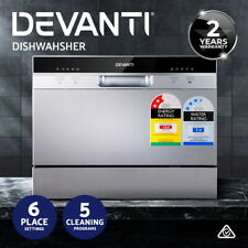 Devanti Benchtop Dishwasher 6 Place Bench Top Countertop Dish Washer Cleaner