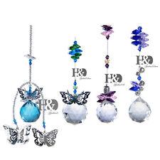 4PCS Handmade Suncatcher Crystal Pendulum Healing Prisms Feng Shui Ball Pendants