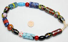 Strang bunte Millefiori Glasperlen trade beads