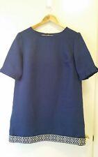 NEW Linen Navy shift dress, size 12-14