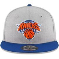 New Era New York Knicks 9Fifty 950 NBA Heather Grey/Royal 2 Tone Snapback Hat