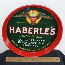 VINTAGE HABERLE'S CONGRESS BREWING BEER TRAY SYRACUSE !!