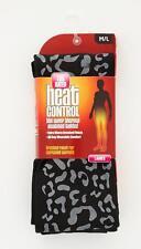 Ladies Leopard Print Thermal Leggings Black Women Warm Winter Heat Control Size M/l