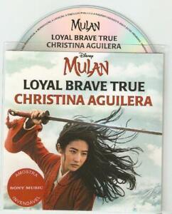 "Christina Aguilera ""Loyal Brave True' From Disney Mulan - Rare Promo Cd"
