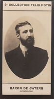 Portrait Baron BELGIQUE  Pierre De Caters coureur automobile CARD IMAGE 1907