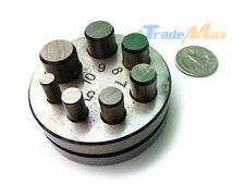 """Metal Round Disc Cutter Circle Punch Puncher 7 Die Size 1/4"""" - 5/8"""" Cutting Hole"""