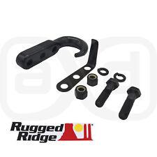 Rugged Ridge Black Steel Tow Hook for 1942-2002 Jeep CJ Wrangler YJ TJ