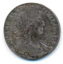 Great Britain UK King William III Silver 1/2 Crown Halfcrown 1697 E Exeter F/VF