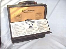 MS1005- VINTAGE/ANTIQUE 78 RPM SPANISH LANGUAGE RECORD SET IN CASE - LINGUAPHONE