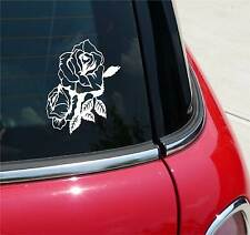 DOUBLE ROSE ROSES FLOWER FLOWERS GRAPHIC DECAL STICKER ART CAR WALL DECOR