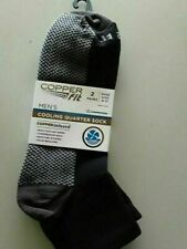 COPPER FIT PRO SOCKS Copper Infused COOLING QUARTER SOCK TD-BLK 2 PACK 6-12 NWT