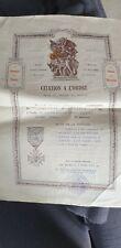 CITATION A L ORDRE POUR UN DRAGON 7eme DRAGONS GENERAL ARNAULT AVRIL 1918