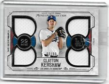 CLAYTON KERSHAW 2015 TOPPS MUSEUM COLLECTION QUADRUPLE GAME USED JERSEY#/99