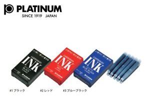 Platinum Fountain Pen Ink Cartridge Choose from 3 colors SPSQ-400