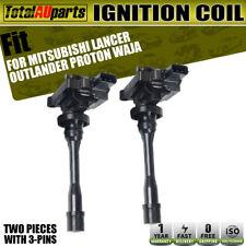 2x Ignition Coils for Mitsubishi Lancer Outlander Pajero Proton Waja 1996-2005