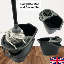 More details for mop and bucket set floor cleaner absorbent string cotton head home cleaning new