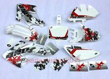 White Plastics & 3M Eagle Decals Graphics For Honda CRF50 XR50 bikes SSR SDG DHZ