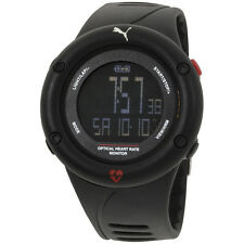 Puma Optical Cardiac Black Dial Plastic Strap Men's Watch PU911291001