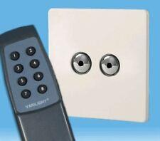 V-Pro Ir, 2 Gang Remoto/Toque Dimmer LED, control remoto sin tornillos Premium Blanco Inc