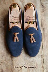 Men's Oliver Sweeney London Blue Tan Suede Loafers Shoes UK 8 US 9 EU 42