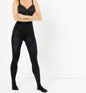 Ladies Ex M&S 6 Pack Thick Tights Black 40 Denier Super Soft Opaque S M L XL