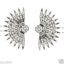 long Ear Studs hoop earrings 974 New Woman Statement clear crystal Rhinestone
