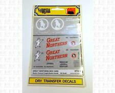 Woodland Scenics HO Dry Transfer Decals Great Northern Boxcar DT610