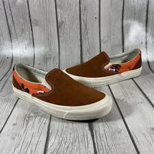 Vans Vault Modernica Orange Hawaiian Brown Orange Unisex Slip On Shoes 8.5M 10W