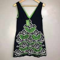 NWT Lilly Pulitzer Sylvie Dress True Navy Size 4 Jungle Flower Embroidery
