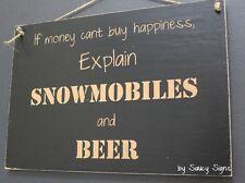 Snowmobiles and Beer Sign ~ Bar Man Cave Ski Doo Skiing Snowboard Ski Wooden
